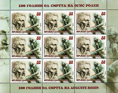 Macedonia / 2017 /M/S/Art / The 100th Anniversary of the death of Auguste Rodin