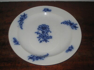 Charming Wedgwood Pearl Design Plate Blue & White Mid 19Th Century