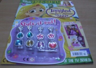 Disney presents magazine #114 Tangled the Series with 2 pairs Earrings & 4 Rings