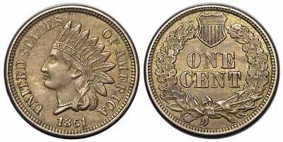 United States of America - 1 Cent 1861, Indian 001