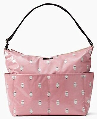 KATE SPADE Daycation Serena Pink Painterly Owl BABY BAG,  NWT $278