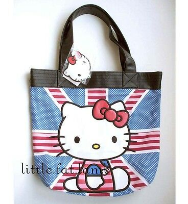 Sanrio Loungefly Hello Kitty UK British England Flag Shoulder Tote Hand Bag