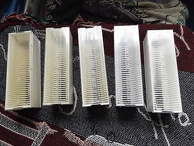 COLLECTION OF 5 x BRAUN SLIDE MAGAZINES - 36 CAPACITY 35mm (1)