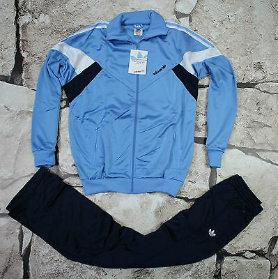 _ ADIDAS _ NEW VINTAGE TRACKSUIT _ 1980's _size / S / D176 __ ULTRA RARE