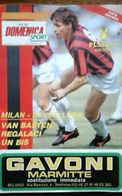 Ac Milan V Barcelona 7/12/1989 European Super Cup Final
