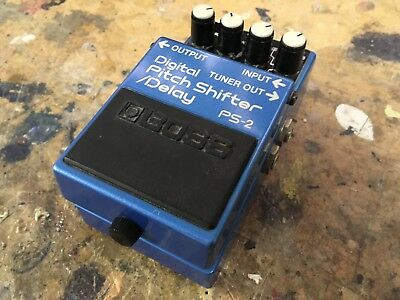 Boss PS2 Digital Pitch Shifter Delay Guitar Effects Pedal Japan Blue Label PS-2