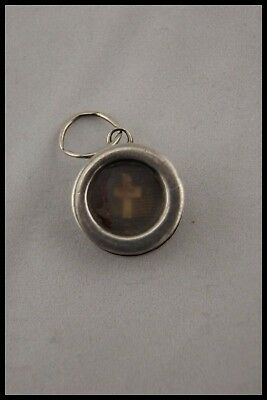 † 19Th Jesus Christ True Cross Relic Sterling Reliquary Pendant Wax Seal Italy †