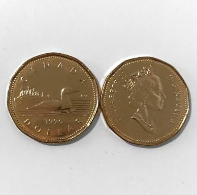 CANADA 1996 Choice UNC $1 ONE DOLLAR LOONIE from Mint Roll