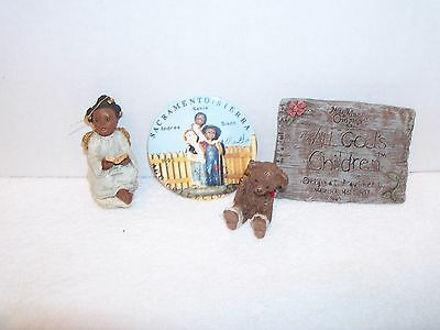 Lot of Martha Holcombe Figurines- Ornament, Bear, Plaque, Pin