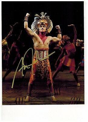 ADAM JACOBS-LION KING-ALADDIN ON BROADWAY Signed Photo 8x10--#12  PROOF