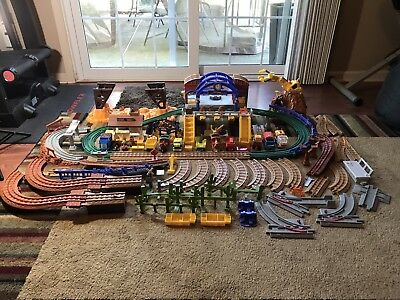Huge Lot Of Fisher Price Geo Trax Toys And Accessories. Tracks, Parts, trains.