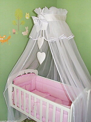Lovely Nursery Canopy Drape + Holder 4 Baby Crib /basket Cot / Cotbed / Cot Bed