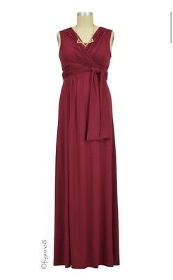 New with Tags Figure 8 Maternity/Nursing Dress, Burgundy Size XL