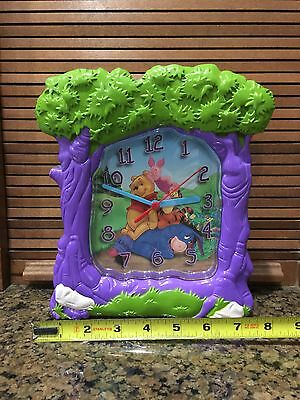 Walt Disney Winnie The Pooh Clock Plastic With Eeyore And Piglet