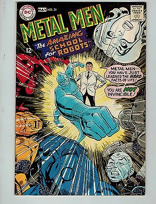 """Metal Men #31 (Apr-May 1968, DC)! FN/VF7.0+! """"The Amazing School for Robots""""!"""