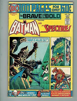 The Brave and the Bold #116 (Dec 1974-Jan 1975, DC)! FN/VF7.0+! Batman/Spectre!