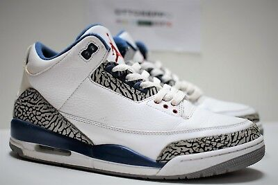 size 40 6b0ea b948c 10.5 2011 AIR Jordan III 3 Retro True Blue white red og vtg cement  136064-104