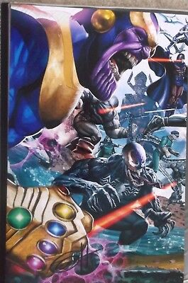 Greg Horn 11X17 Signed Print Thanos Venom Magneto Villains Marvel Comics New