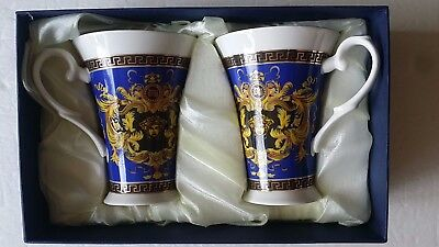 VERSACE  Amazing Porcelain Coffee/Tea Cups - Please select the color