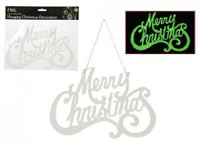 christmas glow in the dark hanging merry christmas decoration