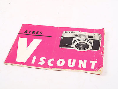 Aires Viscount - Instructions for use booklet