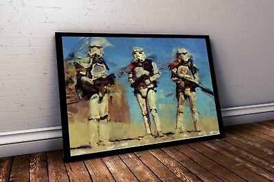 Star Wars Poster. Three Stormtroopers Painting Print.