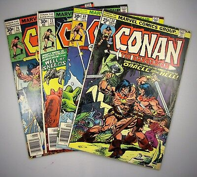 Marvel Comics Group Conan The Barbarian Lot Issues 54 69 73 & 74