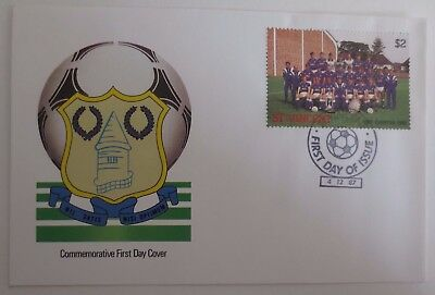 Everton football Club 1987 Postal Cover & Stamps, Goodison Park Merseyside