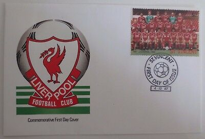 Liverpool Football Club 1987 Postal Cover & Stamps, Anfield Merseyside Soccer