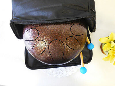 "New!! WuYou 10"" Steel Tongue Drum Handpan Tank,8 note, Cushion bag +2mallets +CD"