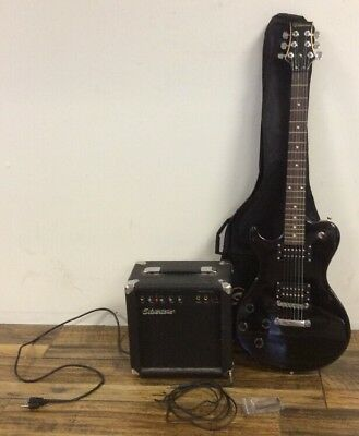Silvertone Left Handed Electric Guitar With Amp- Silvertone Smart 3 Amp