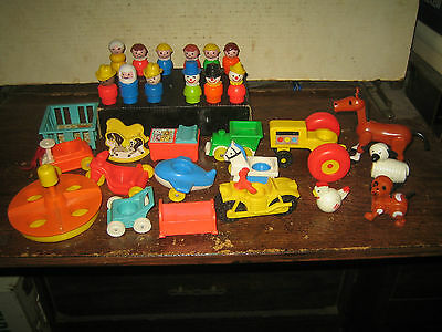 "29 Rare Htf Vintage Collectable Fisher-Price Little People  "" Sold As Is """