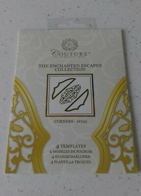 Brand New - Couture Collection - 4 Templates - Craft Dies - Corners 16742