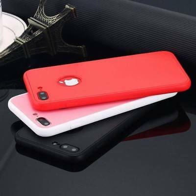 360°full Cover Slim Soft Silicone Rubber Protective Phone Case For IPhone