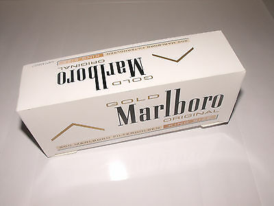 1000 Marlboro Gold King Size MAKE YOUR OWN Empty Cigarette Filter Tubes