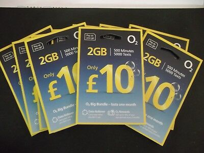 Official New O2 02 Pay As You Go £10 Package Standard & Micro & Nano Sim Card