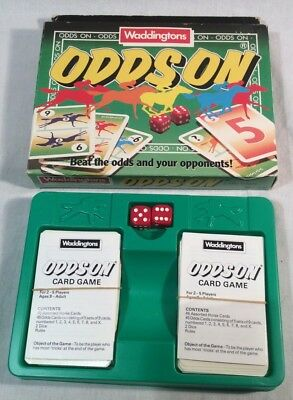 "Collectable Vintage ""Odds On"" Card Game By Waddingtons, 1988"