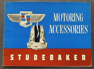 Original 1947 Studebaker Motoring Accessories Sales Brochure ~ 20 Pages ~Sma47