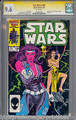 Star Wars #106 Cgc 9.6 White Ss Stan Lee Signed 2Nd Highest Graded  #1191292015