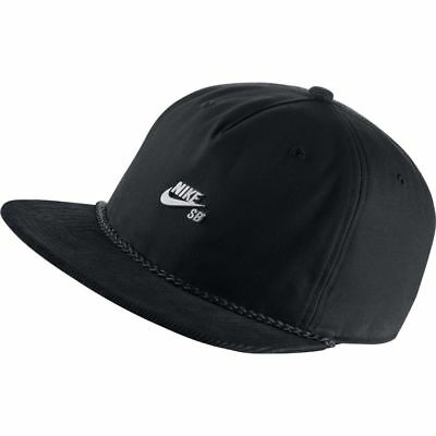 Nike SB Cap Waxed Canvas Pro Black Black Cool Grey Skateboard Snapback Hat
