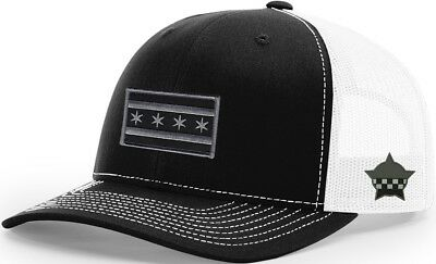 Chicago Flag Snapback Trucker Mesh Black/White