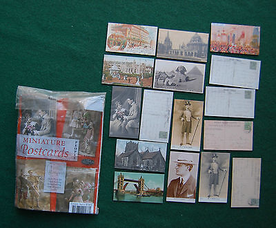 Miniature Postcard Lot/Bundle - Vintage Reproduction - Doll Prop - Paper Craft