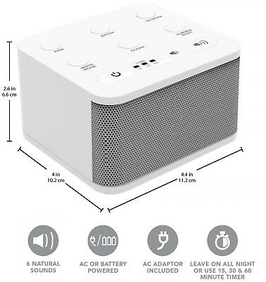 Noise Sound Machine Sleep Well Therapy Relax Fall Asleep White Nature Sounds NEW