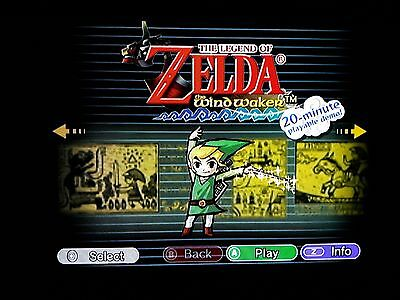 Legend of Zelda Collector's Edition Nintendo GameCube, 2003 manual artwork disc