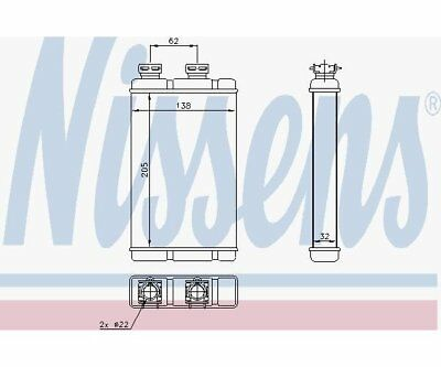 Nissens 70513 Heat Exchanger, Interior Heating