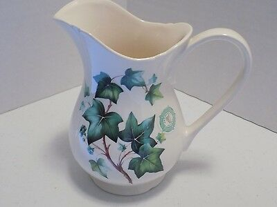 Hammersley, Ireland, Ivy Trimmed Pitcher, Excellent Condition