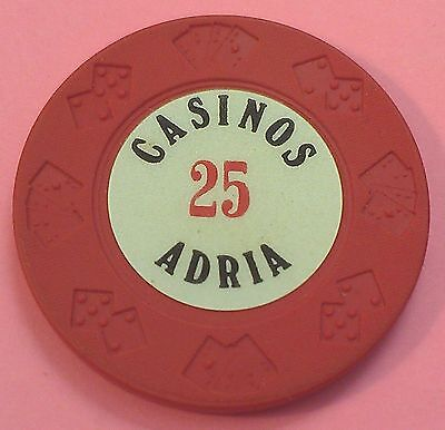 $25 Casinos Adria Casino Chip ~ Croatia (Hrvatska) ~ Cards & Dice Mold!