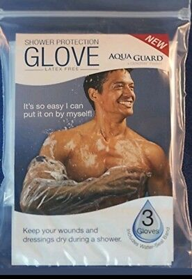 AQUA GUARD Glove Shower Protection Pack Of 3