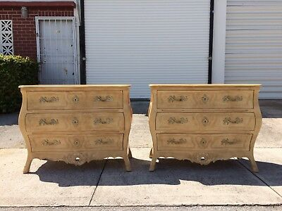 Pair of Henredon Versailles chests of drawers cabinets commodes french country