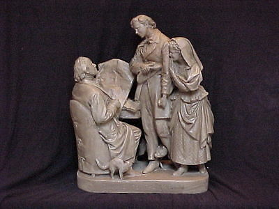 John Rogers Group of Statuary 'Coming To The Parson''
